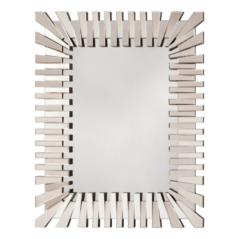 OSP Designs Empire Rectangle Wall Mirror with Glass Frame