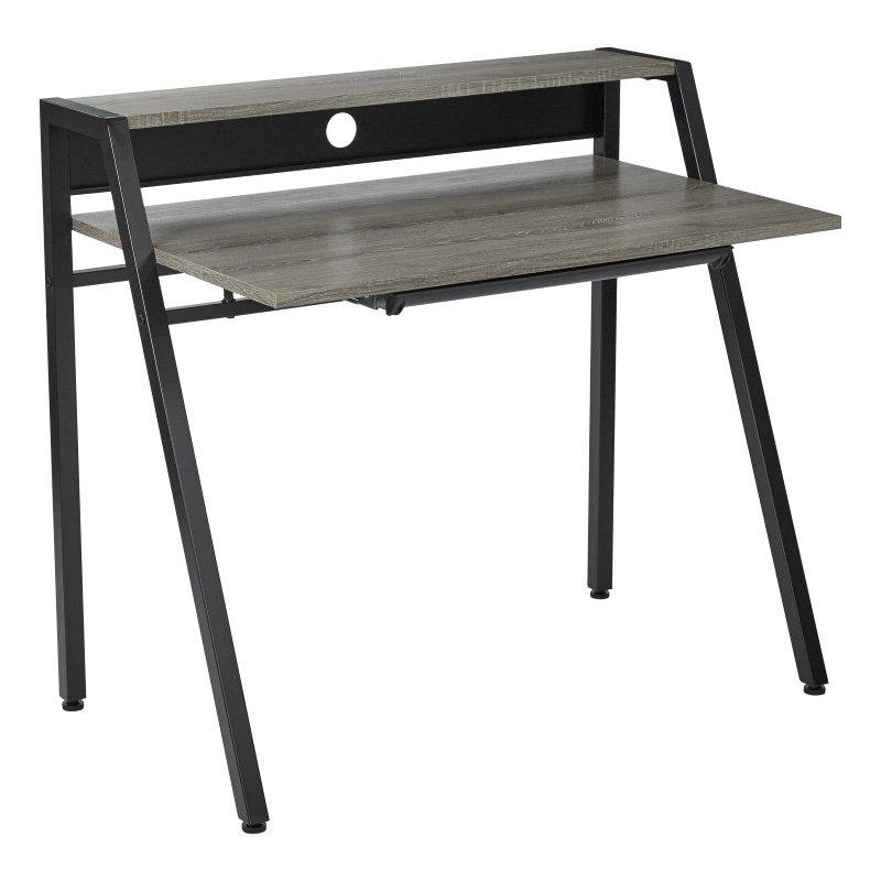 OSP Designs Kent Writing Desk in Dark Driftwood Finish