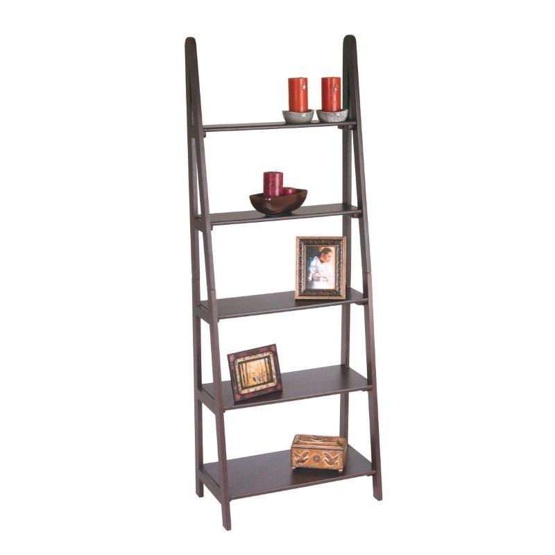 OSP Designs Ladder Bookcase in Espresso