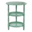 OSP Designs Lynwood Round Accent Table in Antique Slate Blue Finish