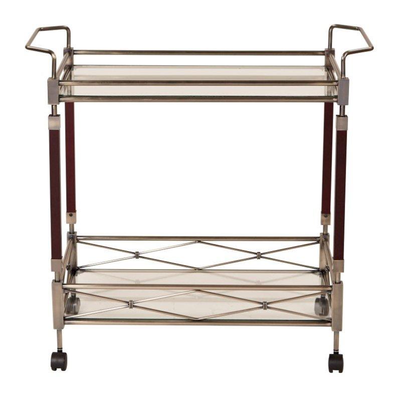 OSP Designs Melrose Serving Cart with Antique Brass Metal Finish