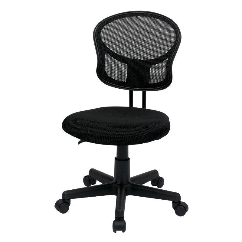 OSP Designs Mesh Task chair in Black Fabric