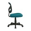 OSP Designs Mesh Task chair in Blue Fabric