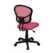 OSP Designs Mesh Task chair in Pink Fabric