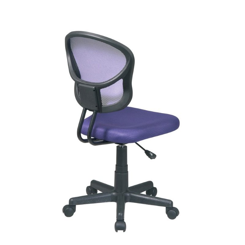 OSP Designs Mesh Task chair in Purple Fabric