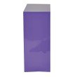 OSP Designs Metal Bookcase in Purple Finish