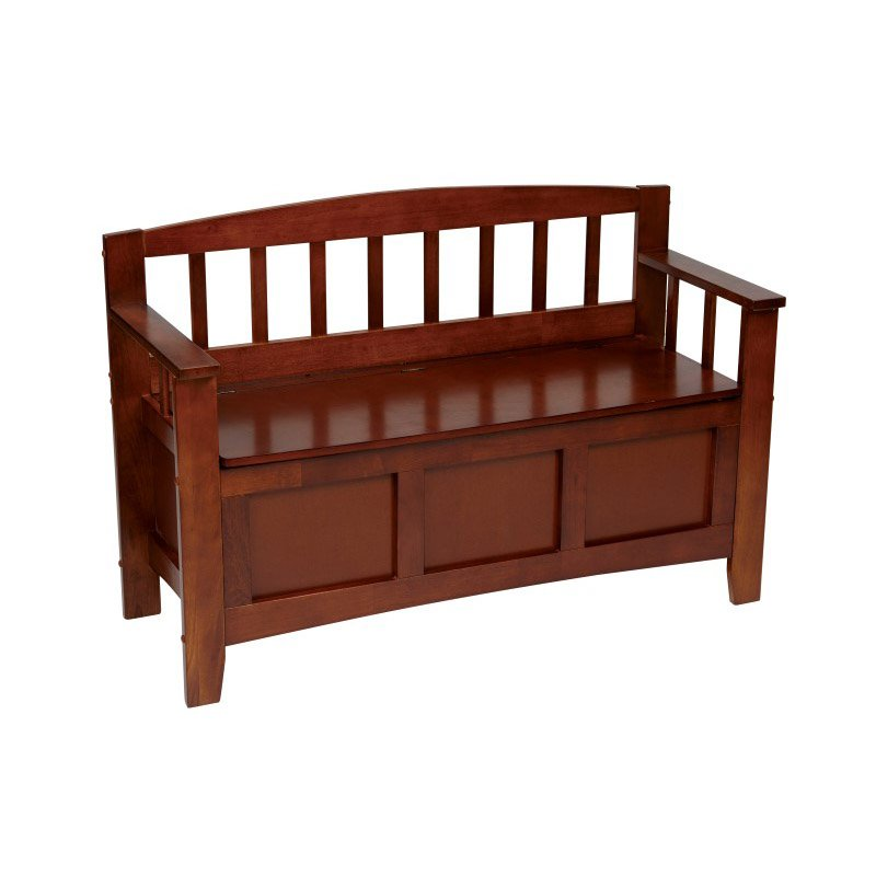 OSP Designs Metro Entry Way Bench With Walnut Finish