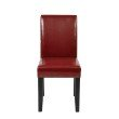 OSP Designs Parsons Chair in Crimson Red