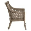OSP Designs Plantation Lounge Chair With Cushion in Grey Wash Finish