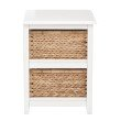 OSP Designs Seabrook 2-Tier Storage Unit With White Finish and Natural Baskets