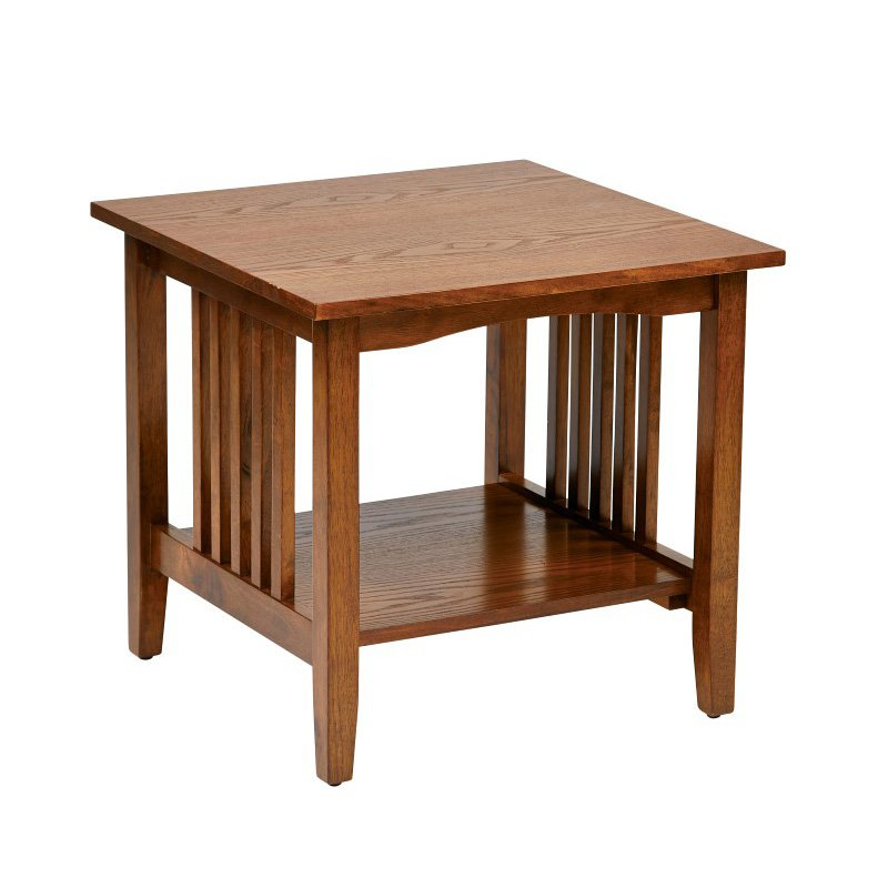 OSP Designs Sierra Mission End Table in Oak Finish