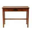OSP Designs Sierra Writing Desk in Oak Finish with Pull out Drawer and Solid Wood Legs