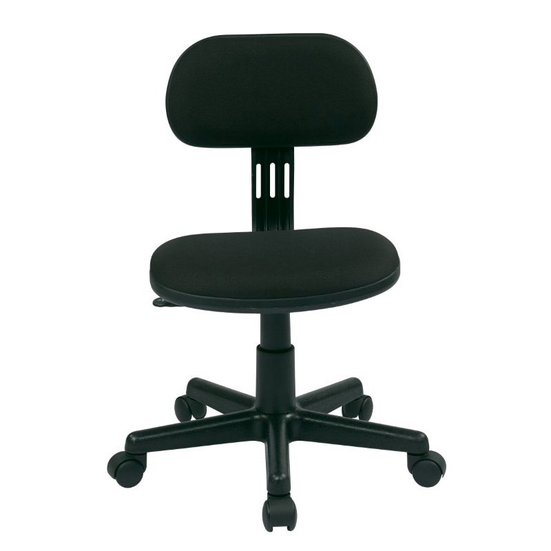 OSP Designs Student Task Chair in Black Fabric