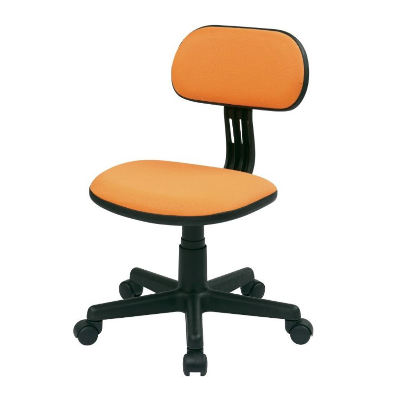 OSP Designs Student Task Chair in Orange Fabric