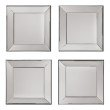 OSP Designs Time Square 4 Pc Wall Mirror Set with wide mirrored frames