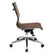 OSP Furniture Armless Mid Back Chocolate Bonded Leather Chair