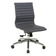 OSP Furniture Armless Mid Back Grey Bonded Leather Chair