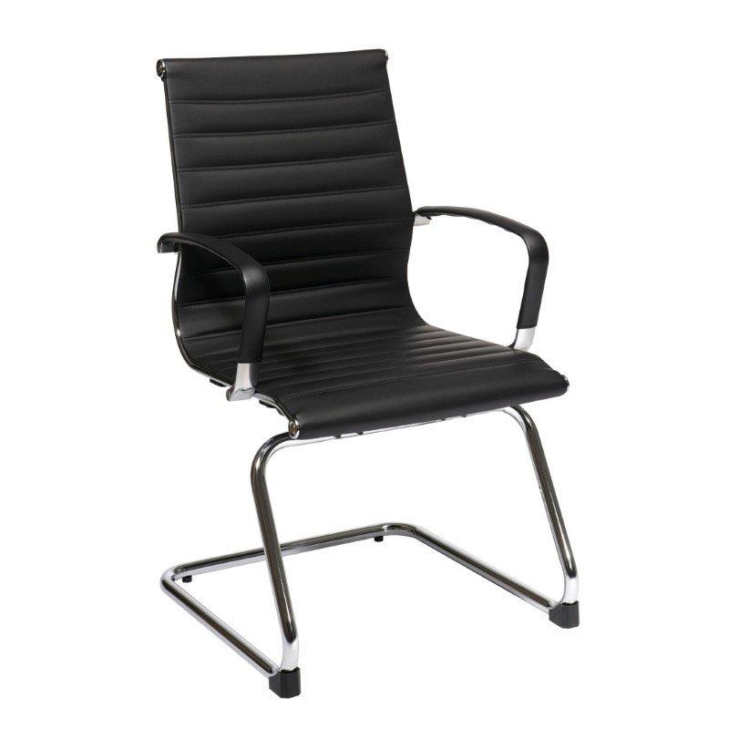 OSP Furniture Black Bonded Leather Visitors Chair