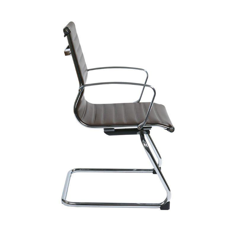 OSP Furniture Chocolate Bonded Leather Visitors Chair