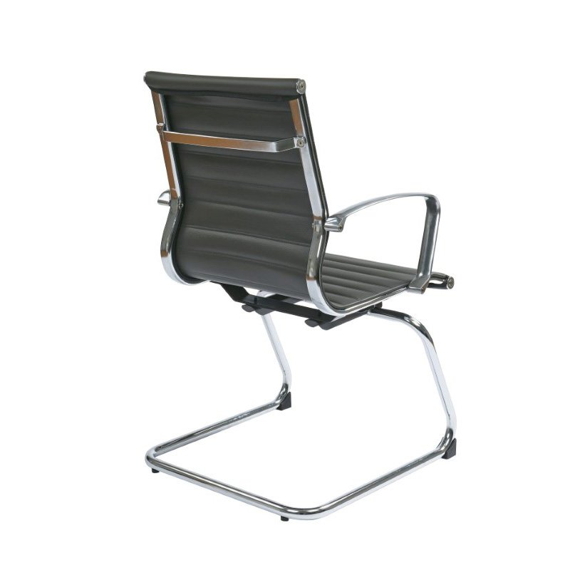 OSP Furniture Grey Bonded Leather Visitors Chair
