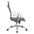 OSP Furniture High Back Bonded Leather Manager's Chair with Locking Tilit Control- Polished Aluminum Arms and Chrome Base
