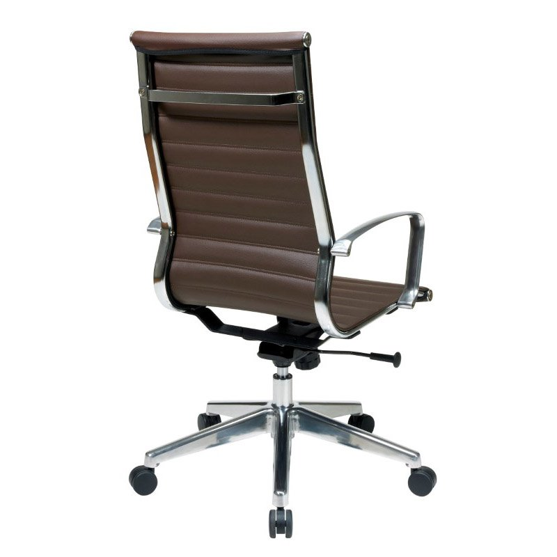 OSP Furniture High Back Chocolate Bonded Leather Chair