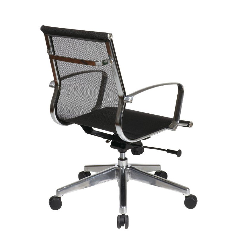 OSP Furniture Mid Back Mesh Screen Back And Seat Chair