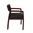 OSP Furniture Napa Mahogany Guest Chair With Upholstered Back (1-Pack)