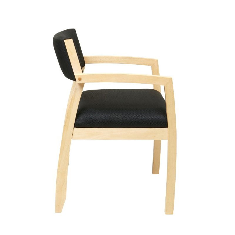 OSP Furniture Napa Maple Guest Chair With Upholstered Back (1-Pack)