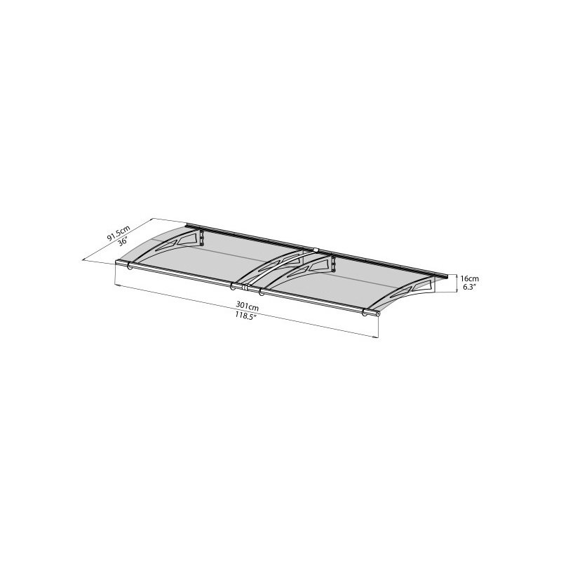 Palram Aquila 3000 Awning in Clear