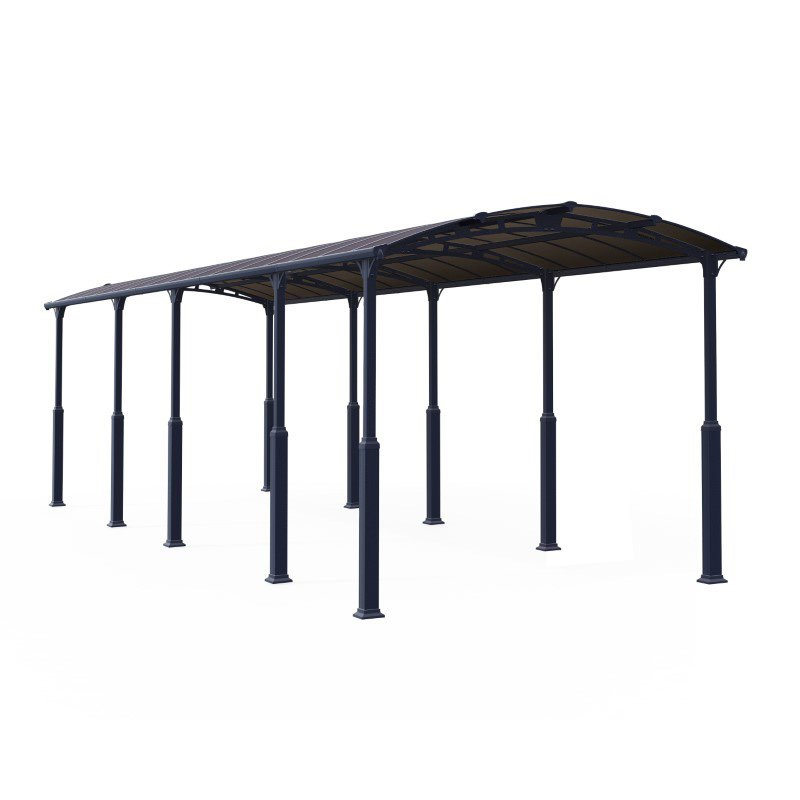 Palram Arcadia Alpine 12 x 35 Carport in Gray (HG9128)