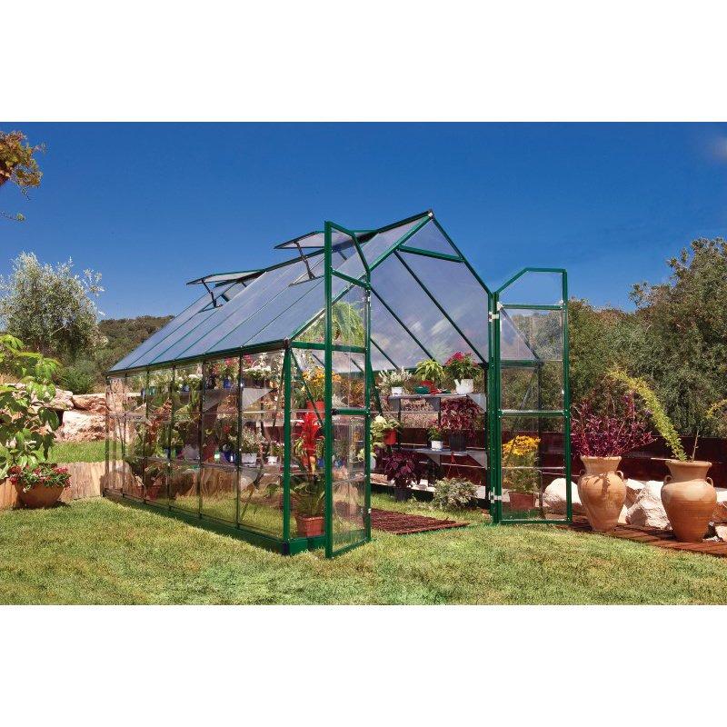 Palram Balance 8' x 12' Hobby Greenhouse in Green
