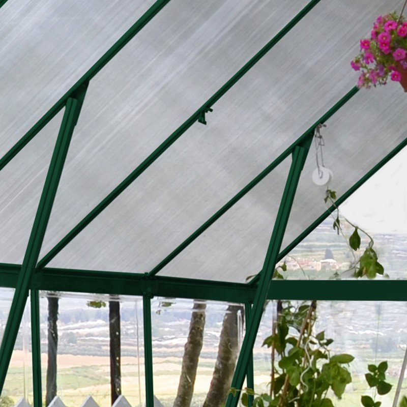 Palram Balance 8' x 8' Hobby Greenhouse in Green