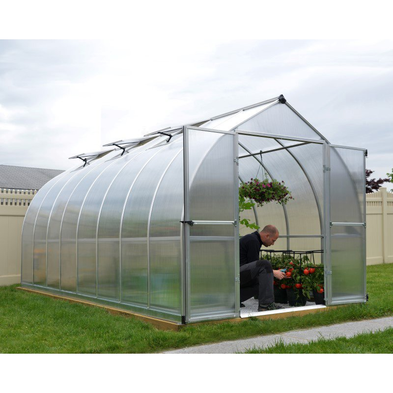 Palram Bella 8' x 16' Hobby Greenhouse in Silver