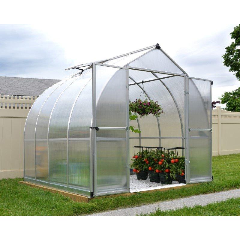 Palram Bella 8' x 8' Hobby Greenhouse in Silver