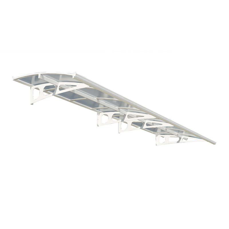 Palram Bordeaux 4460 Awning in White and Clear (HG9584)
