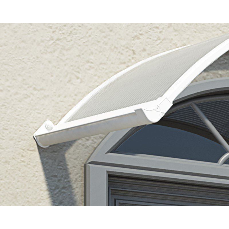 Palram Corona 1580 Awning in Whte & Clear