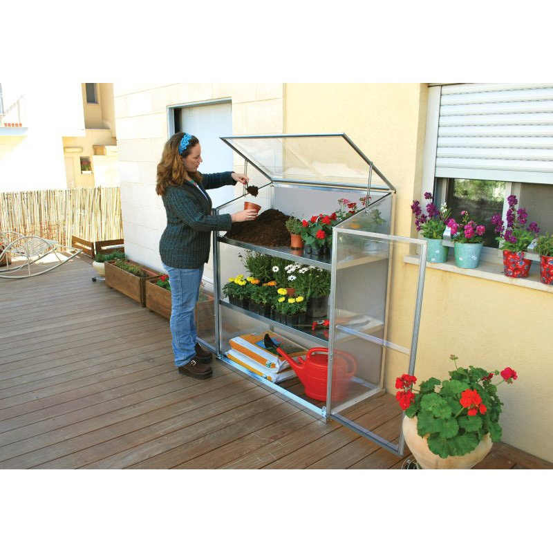 Palram Grow Station Raised Garden Bed Greenhouse