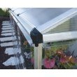 Palram Hybrid Lean-To 4' x 8' in Silver (HG5548)