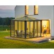 Palram Ledro 10 x 10 Gazebo with Screen Doors in Gray/Bronze (HG9191)