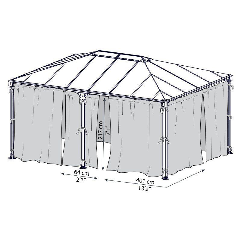 Palram Milano/Martinique Gazebo Netting Set (HG1069)