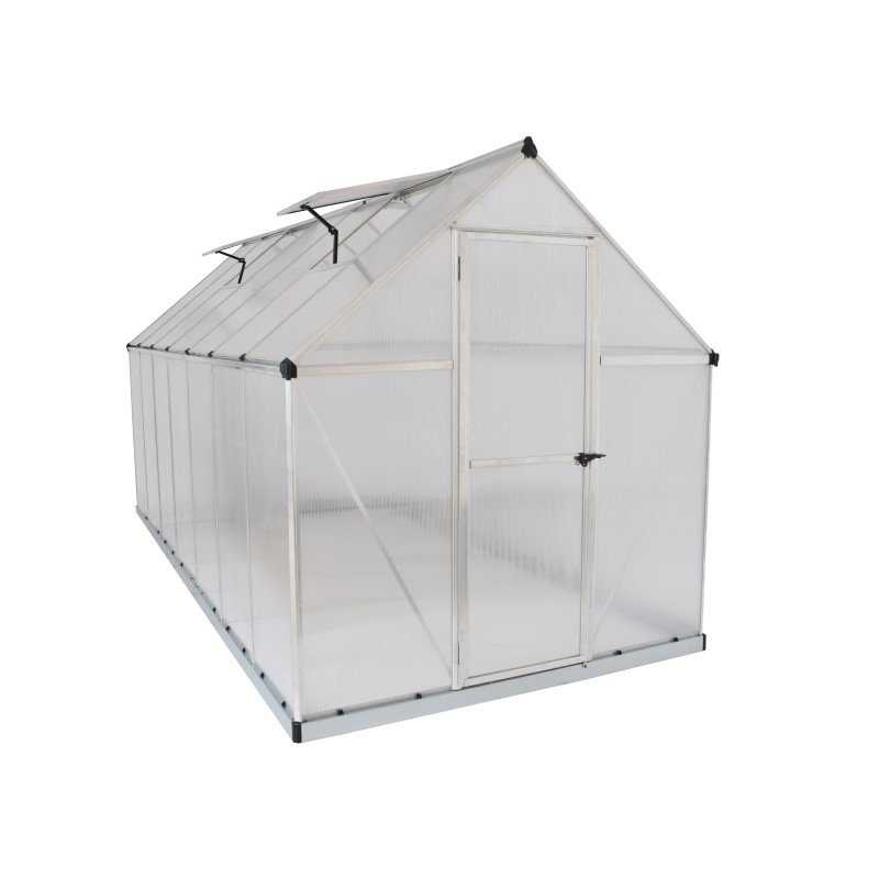Palram Mythos 6' x 14' Greenhouse in Silver (HG5014)
