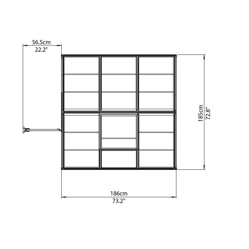 Palram Mythos 6' x 6' Hobby Greenhouse in Silver