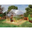 Palram Mythos 6' x 8' Hobby Greenhouse in Silver