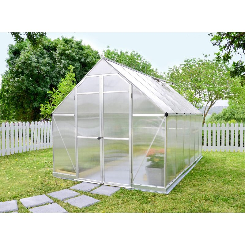 Palram Nature Series Essence 8' x 12' Hobby Greenhouse in Silver