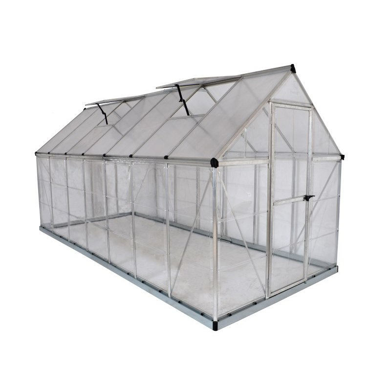 Palram Nature Series Hybrid 6' x 14' Hobby Greenhouse in Silver