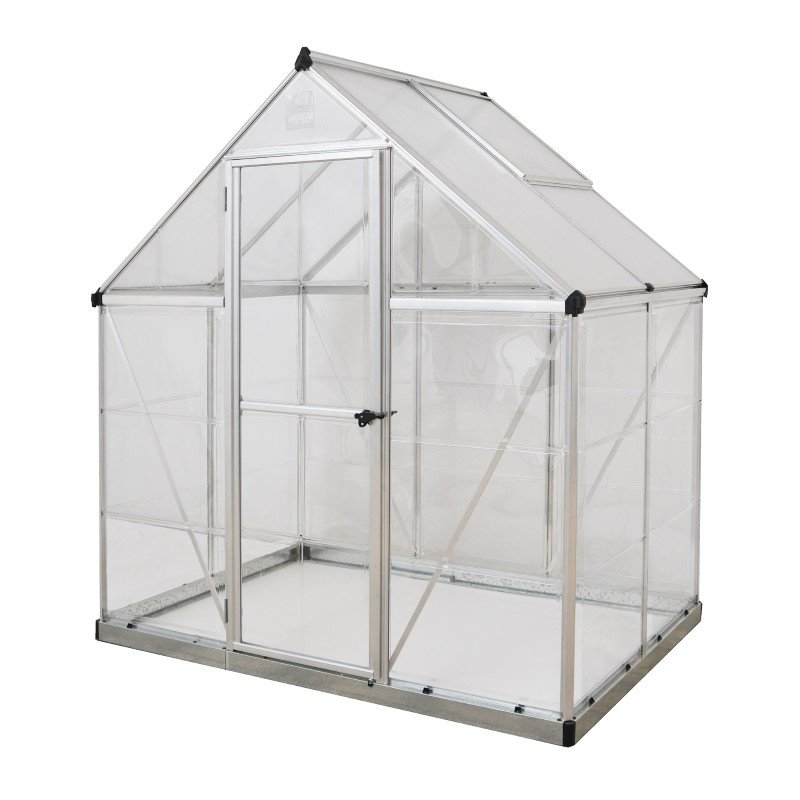Palram Nature Series Hybrid 6' x 4' Hobby Greenhouse in Silver