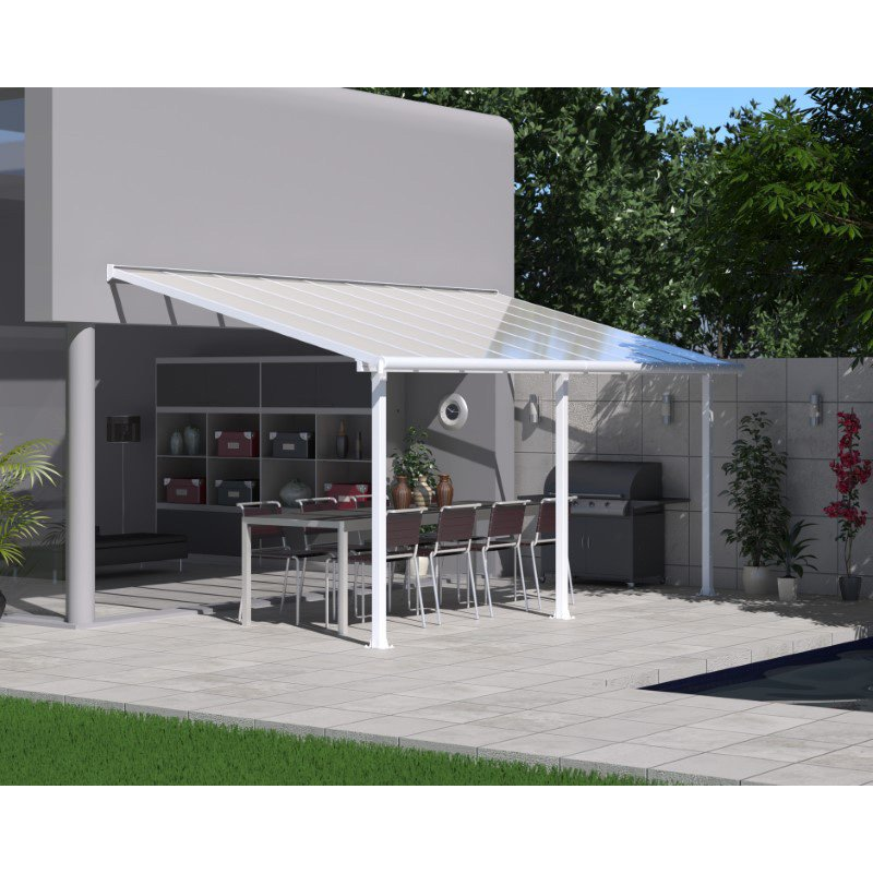 Palram Olympia 10' x 18' Patio Cover in White (HG8818W)