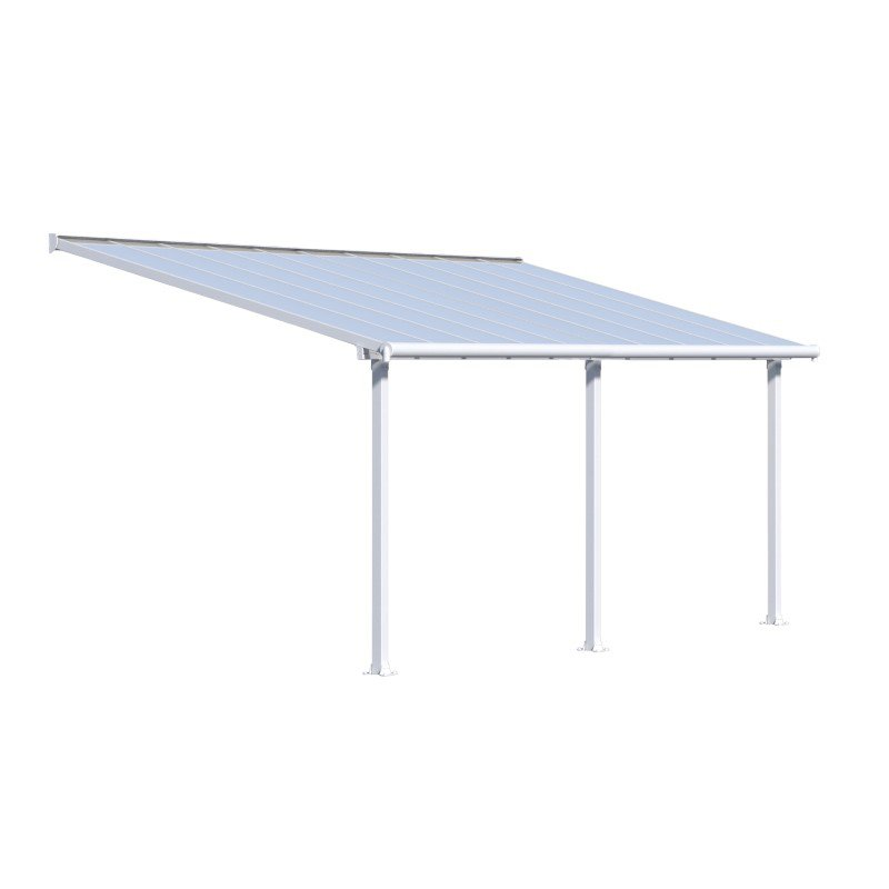 Palram Olympia 10' x 20' Patio Cover in White (HG8820W)