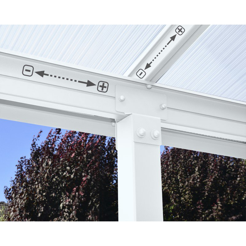 Palram Olympia 10' x 30' Patio Cover in White (HG8830W)